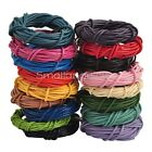 3M/5M Round Real Leather  Rope String Cord String Lace Thong, 1mm to 3mm