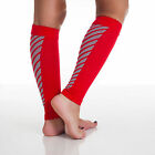 One Pair of Running Sleeve Compression Calf Socks Red or Blue Nylon Spandex