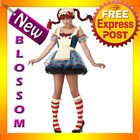 CL237 Rag Doll Adult Raggedy Anne Rag Doll Halloween Fancy Dress Costume