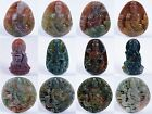 47-50mm Multi-color jade Kwan-yin buddha pendant bead *each one pictured*