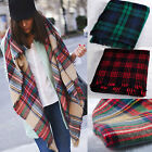 Lady Blanket Oversized Tartan Check Pashmina Scarf Wrap Shawl Plaid Soft Scarves