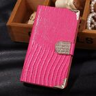 Magnetic Bling Leather Wallet Case Flip Cover For Samsung Galaxy Note II 2 N7100