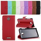 Luxury Flip Leather Card Slots Wallet Case Cover Pouch For HTC Desire 510 + Film