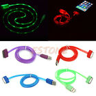 LED Light new USB Visible Data Sync Charger Charging Cable Cord for iPhone4/4S