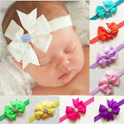 Newborn Babies Infants Toddler Rhinestones Crystal Ribbon Bow Headband Hair Band