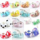 Assorted Lampwork Murano Glass Flower Floral Beads For EP Snake Charms Bracelet