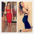 Fashion Women Sexy Backless Clubwear Pencil Skirt Sleeveless Two Piece Outfit CB