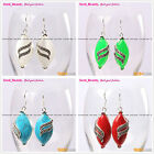 Fashion 16x32mm Marquise Beads Tibetan Silver Dangle Earrings 1 Pair Seed_Beauty