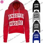 New Womens Ladies Hangover Hoodie Print Fleece Full Sleeve Crop Hoodie Hoody Top