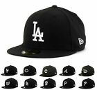 New Era 5950 - National League - White on Black - MLB Baseball Cap Hat
