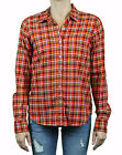 STEVEN ALAN Red Plaid Long Sleeve Reverse Seam Cotton Shirt WST03CT NWT $158