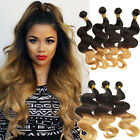 "US LOCAL BRAZILIAN VIRGIN HUMAN HAIR EXTENSION 16""-18"" 2-3 bundles1B/4/27 BODY"
