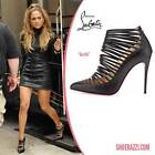 Christian Louboutin GORTIK Strappy Caged Sandals Heels Shoes Booties Black $1245