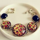 Womens Jewelry Accessories Vintage Bracelet Ladies Leopard Beaded Bangle