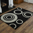 SMALL MEDIUM LARGE EXTRA LARGE BLACK GREY HALO DESIGN CHEAP SOFT RUGS MATS