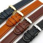Padded Leather Watch Strap Band by CONDOR Contrast Stitching 18mm 20mm 147R
