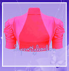 Girls Pink Bolero Shrug Kids Age 2 3 4 5 11 12 13 Years Wedding Flower Girl