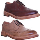 013389 Justin Reece Good Year Welted Stan Mens Lace up Brogue Leather Sole Shoes