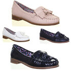 Ladies Womens Flat Sole Shoes Round Toe Loafer Tassel Ladies Fashion Good Sole
