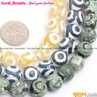 """Round Faceted 10mm Circle Agate Jewelry Making Loose Beads Strand 15"""" 3 Colors"""