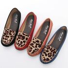 BN Womens Leopard Comfort Casual Walking Flat Shoes Loafers Moccasin Espadrilles