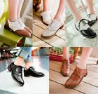 Sale Fashion brand new oxfords wing tips lace Up school flats Retro match color