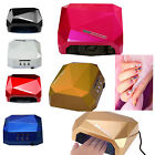 CCFL 36W LED Nail Dryer Curing Lamp Machine Diamond Shape for Drying UV Gel Nail