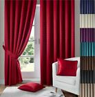 1 PAIR MADISON FULLY LINED EYELET OR PENCIL PLEAT CURTAINS ~ FREE Tiebacks