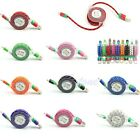 Retractable Micro USB Charger Sync Data Cable Cord Fr Samsung Galaxy S4 Braided