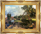 Framed Canvas Giclee Art John Constable Flatford Mill on the River Stour Repro