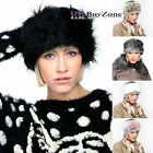Ladies Girls Faux Fur Headband Head Band Wrap Warmer Winter Hat Ear Muffs