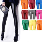 Punk Sexy Women Stretch Faux Leather Skinny Tight Leggings Pencil Pants WY