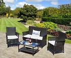 New Rattan Weave Sofa Set Patio Conservatory Garden Furniture 4 seating