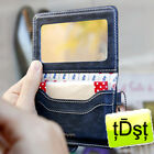 [Monopoly]Korea Card Holder Oil Blotting Paper Handy Cosmetic Mirror Compact