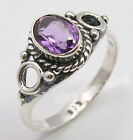 925 Sterling Silver AMETHYST Handmade Ring All Sizes