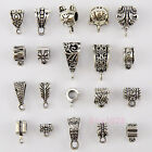 Tibetan Silver Charm Pendant Bail Connectors 20Styles-1 Or Mixed FB-8