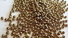 BRASS BEADS ,GOLD HEAD BEADS 3.5MM FLY TYING MATERIALS