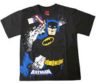 Boys BATMAN short sleeve gray cotton summer t-shirt 6-8-10-12 Age 4-8y Free Ship