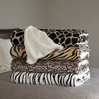 Lavish Home Fleece Blanket Sherpa Backing - King Super Soft Animal Print image