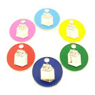 Personalised Engraved Milk Carton Pet Disc Cat ID Tag-6 Colours-Free Engraving