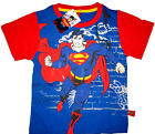 SUPERMAN MAN OF STEEL Boys cotton summer t-shirt Size S-XL Age 3-7yrs Free Ship