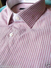 M&S AUTOGRAPH COTTON RED STRIPED SHIRT SIZE 15 RRP £29.50 LAST FEW REMAINING