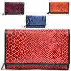 Womens / Ladies Leather Snake Skin Effect Matinee Tri-Fold Purse