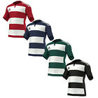 NEW ADIDAS 3 STRIPES HOOPED MENS CREWNECK RUGBY MULTI COLOUR CLIMACOOL JERSEY