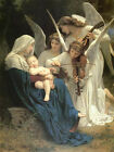 Christian Canvas Art Song of the Angels William Bouguereau Painting Reproduction