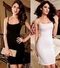D69 Women's Spaghetti Strap Fashion Dress Black White M LC2651