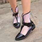US4-11 womens falts ankle boots Gladiator mesh pointed toe oxfords sandals shoes