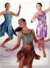 NWT Lyrical Dance COSTUME 3 colors Tie dye Sequin bodice Flyer skirt w/shorts