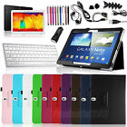 Bluetooth Keyboard Leather Stand Case for Samsung Galaxy Note 10.1 inch SM-P600