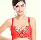 1 Bra of Lot of3 Sexy Women's Underwire Push-up Lace Gather V-neck Shapewear Bra